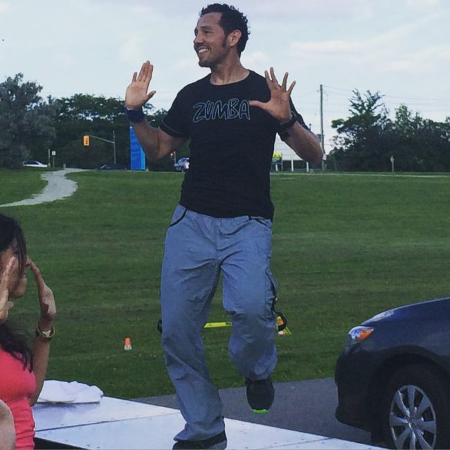 Outdoor Zumba with Edgar Uribe and Andrea JImenez